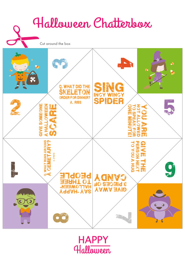 how to make a chatterbox template - free printables for halloween